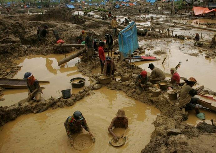 Теневая добыча в Индонезии