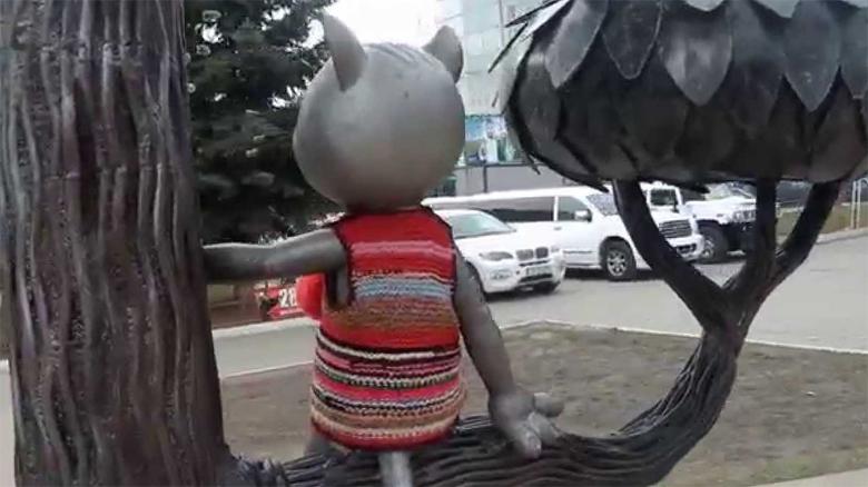 Памятник котенку