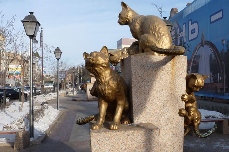 Сквер кошек