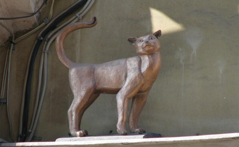 Памятник кошке