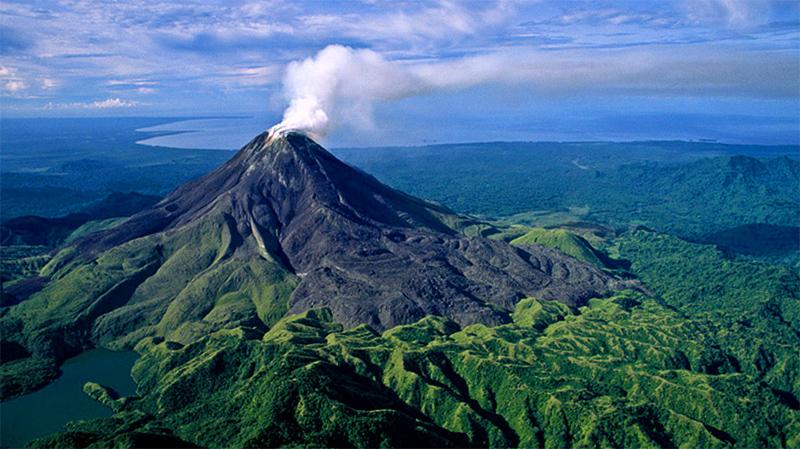 Вулкан Багана в Гвинее