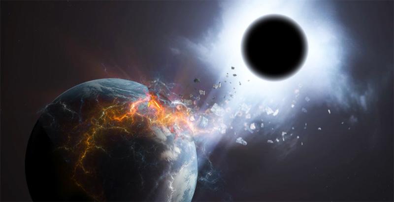 Черная дыра и земля