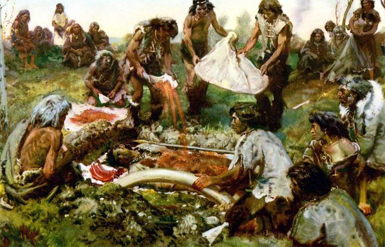 Собрание древних людей