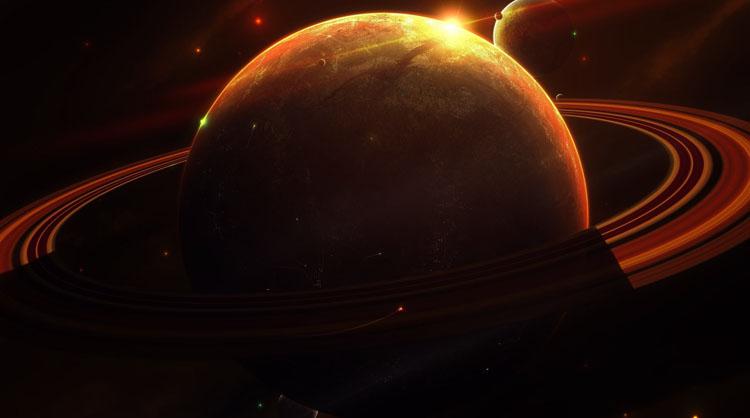 Красивая планета Сатурн