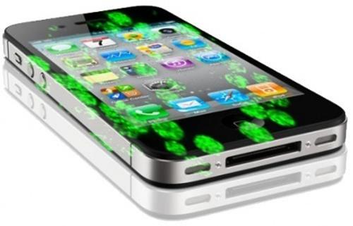 Бактерии на телефоне