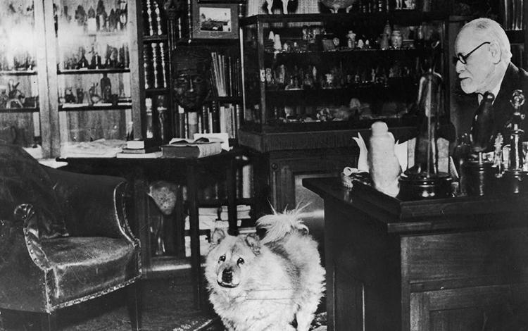 Фрейд с собакой