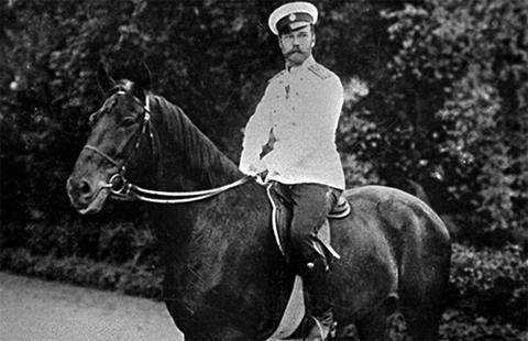 Николай 2 на коне