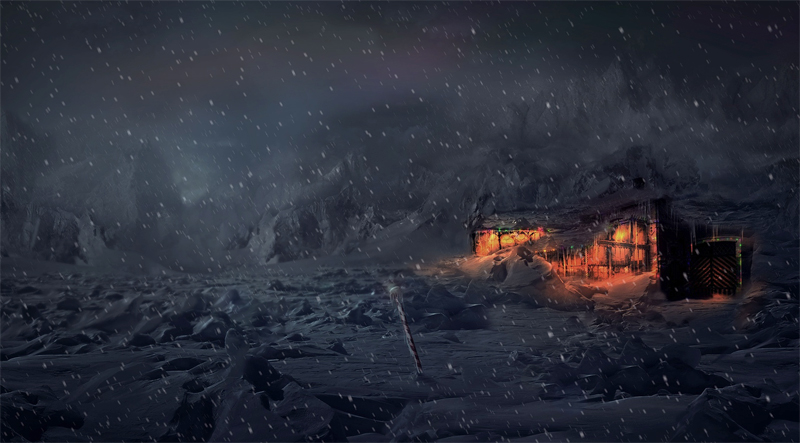 Тундра ночью