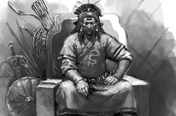 Чингисхан на троне