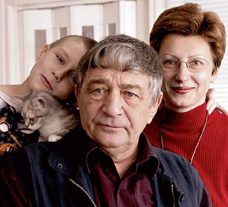 Успенский с женой и дочерью