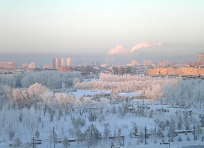 Зима в Казахстане