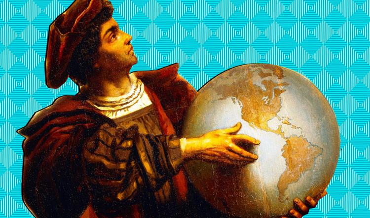 Колумб и глобус