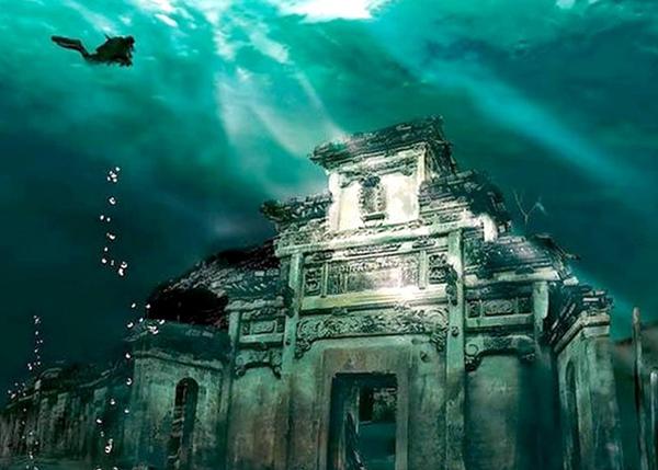 Шичэн город под водой