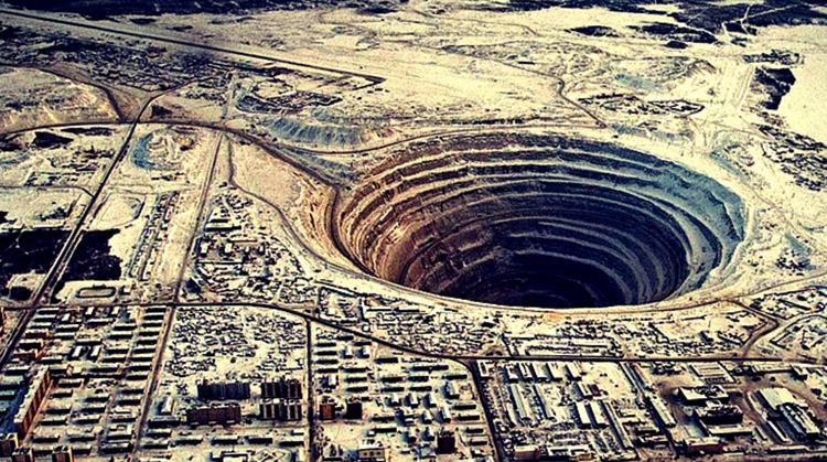 Месторождение алмазов в России