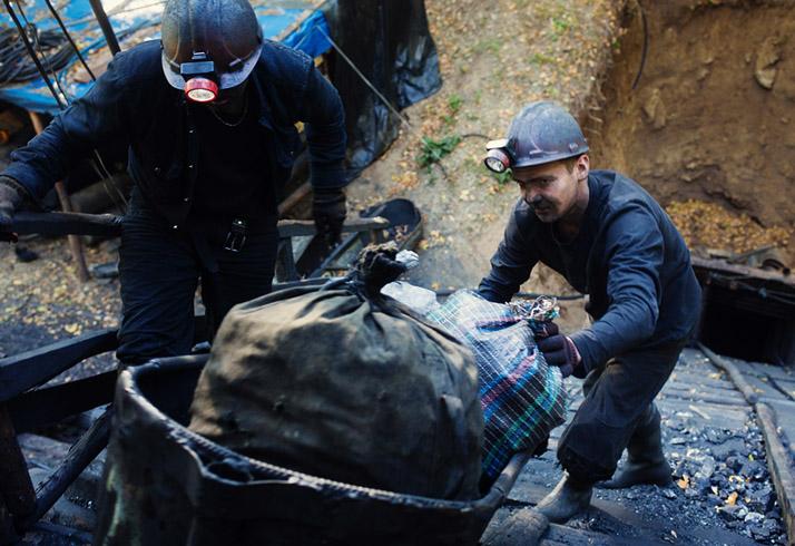 Добыча угля на Украине
