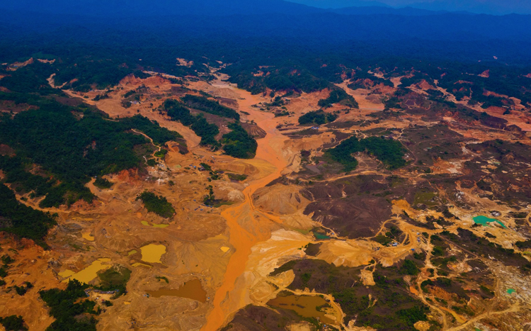 Добыча золота в Перу