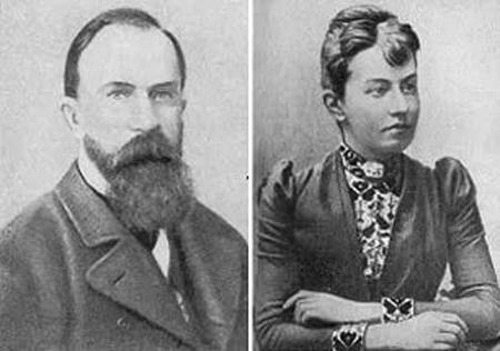 Софья Ковалевская с мужем