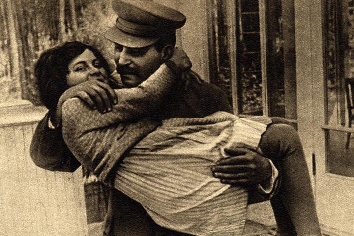 Сталин с женой