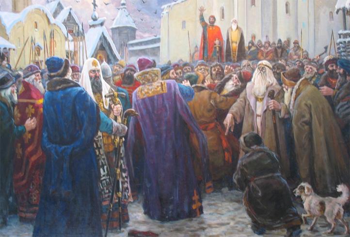 Люди в древнем Новгороде