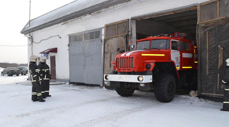 Пожарные собираются