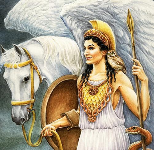 Афина с конем