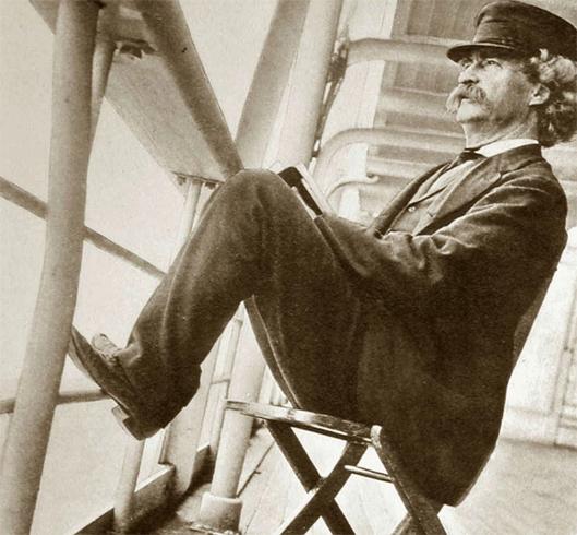 Марк Твен в море