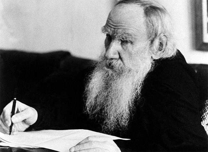 Толстой пишет