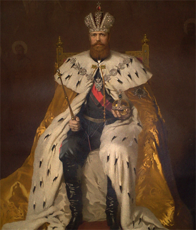 Александр 3 на троне