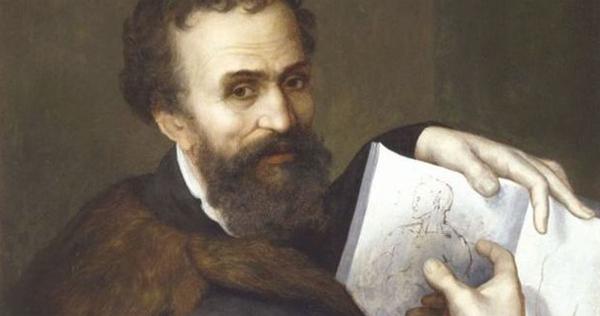 Микеланджело рисует
