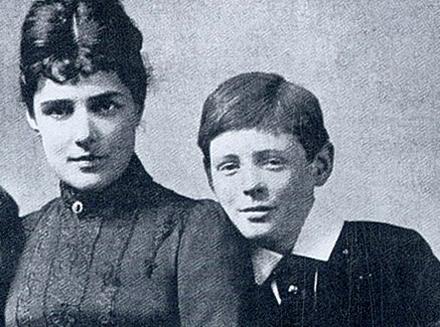 Черчилль с мамой