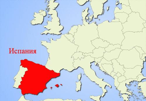 Испания на карте