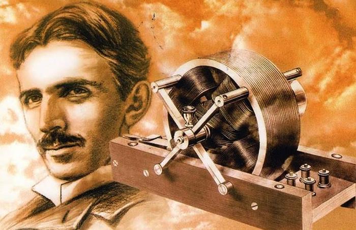 Тесла со своим изобретением
