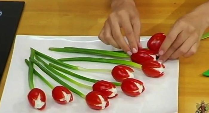 Готовка тюльпанов