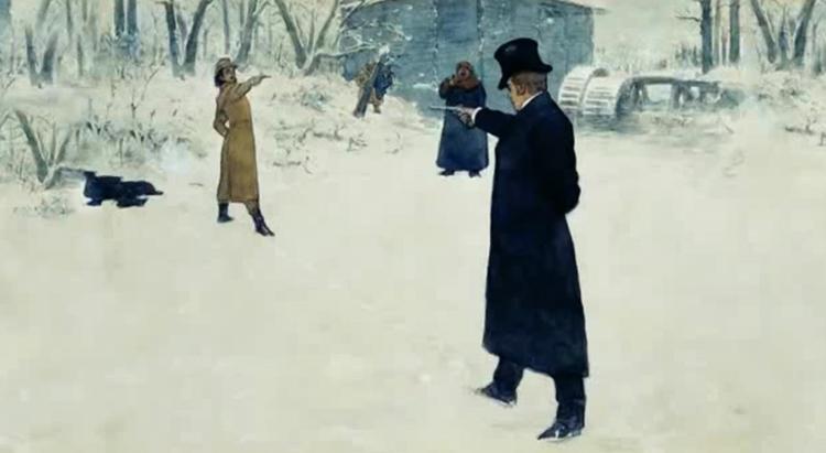 Пушкин и Дантес