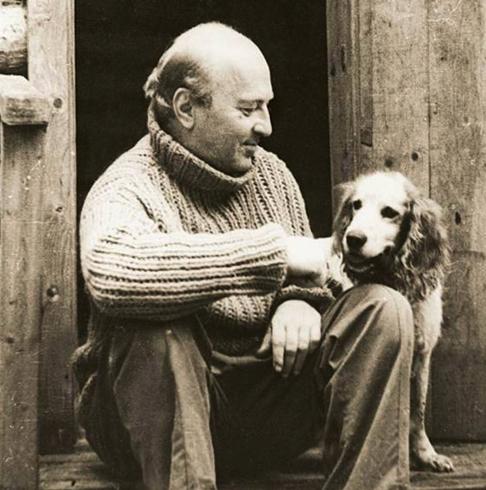 Казаков с собакой