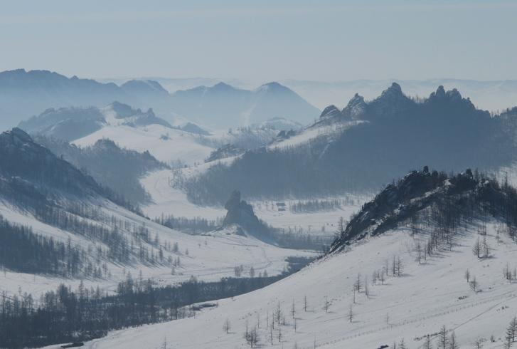 Зима в Монголии