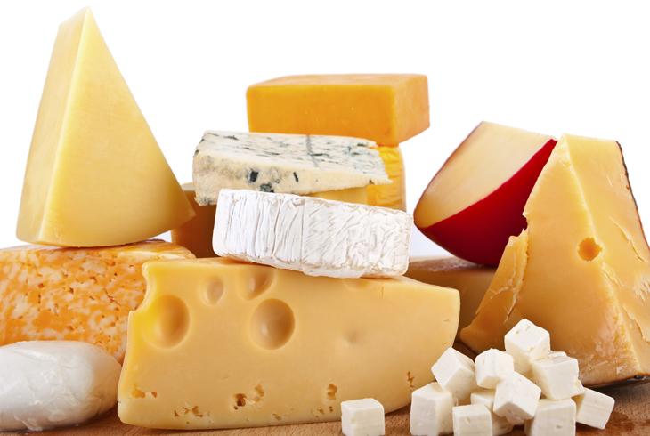 Разные цвета сыра
