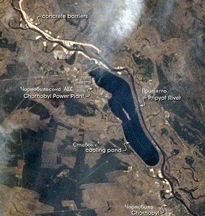 Снимок Чернобыля