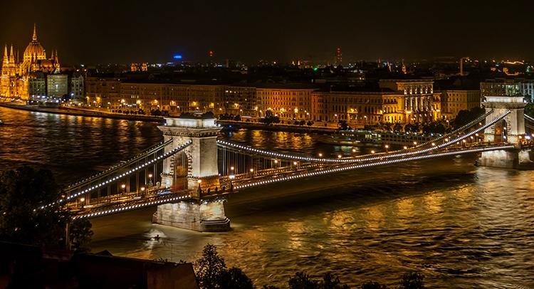 Цепной мост Сечени, г. Будапешт