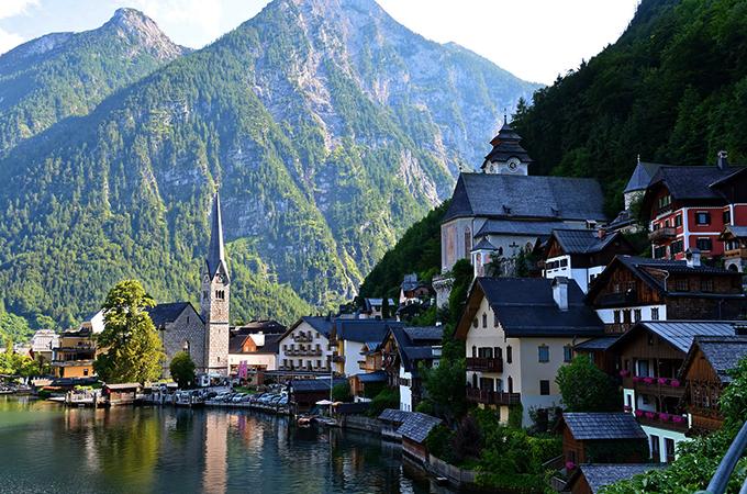 Деревня Хальштатт, Австрия