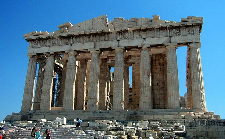 Афинский акрополь в Афинах