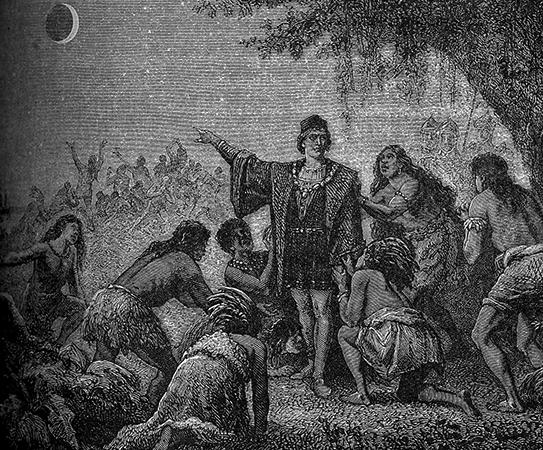 Колумб и затмение