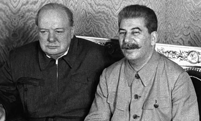 Черчилль и Сталин