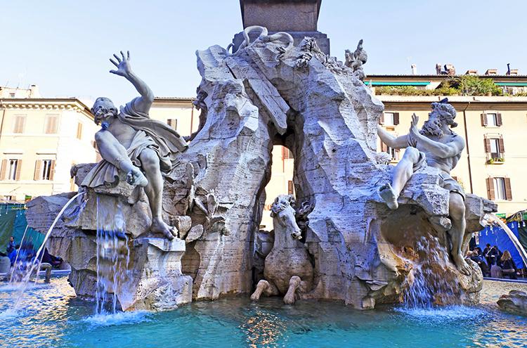 Фонтан 4-х рек (Fontana dei Quattro Fiumi)