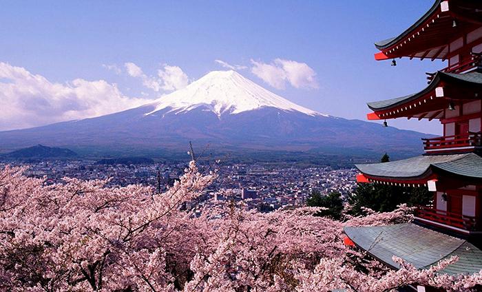 Гора Фудзияма на о. Хонсю