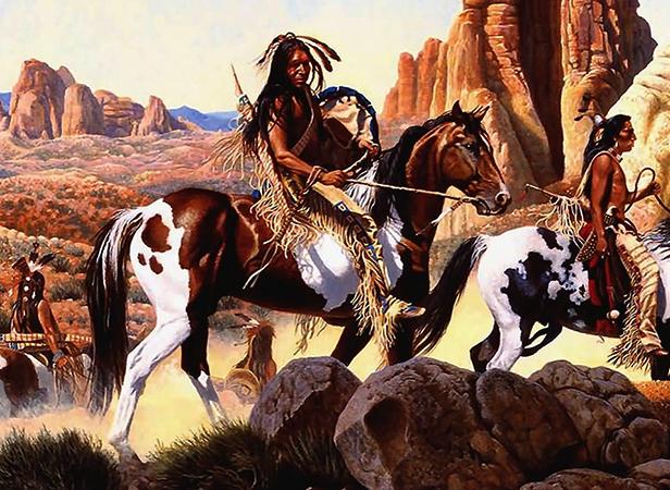 Индейцы на лошадях