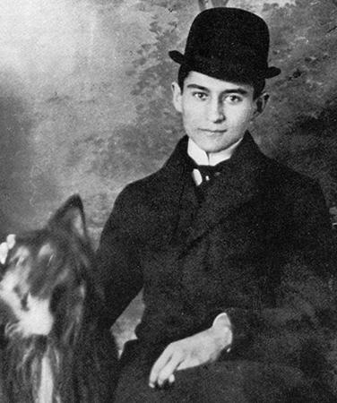Франц Кафка с собакой