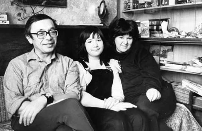 Юлий Ким с семьей