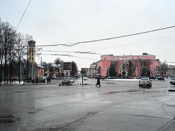 Красная площадь в Ярославле