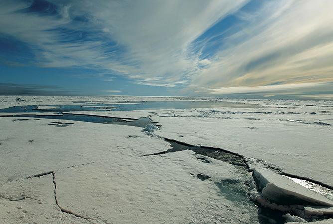 Лед на Карском море